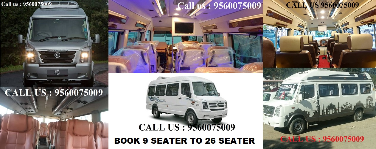 9 seater tempo traveller in faridabad